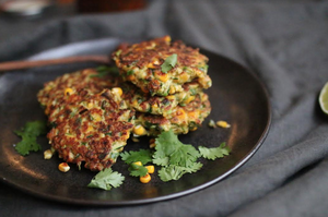 Zucchini, Corn, and Herb Fritters