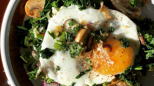 Throw it all in Veggie Breakfast Hash!