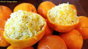 Santra Bhaat (Orange & Mandarin Dessert Rice)