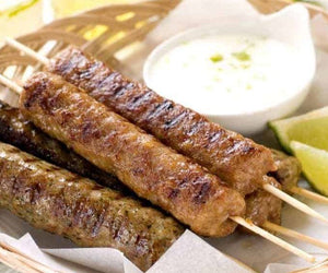 BBQ Lamb Kofta Kebabs with Spicy Yoghurt Dressing