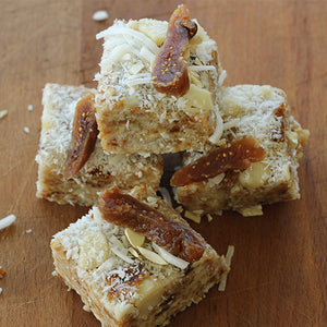 Raw Treats, Macadamia Fig Slice - party tray