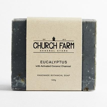 Soap, Eucalyptus with Activated Coconut Charcoal