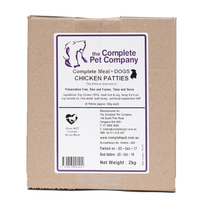 Complete Meal for Dogs - Chicken Patties 2kg