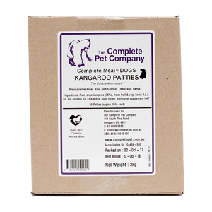 Complete Meal for Dogs - Kangaroo Patties 2kg