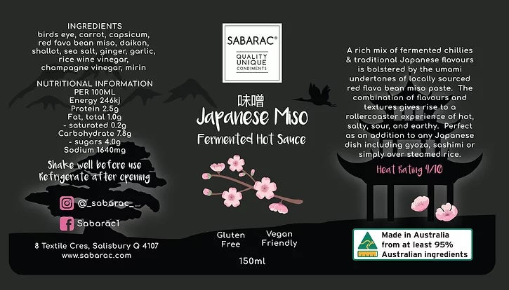 Japanese Miso Fermented Hot Sauce - 150ml