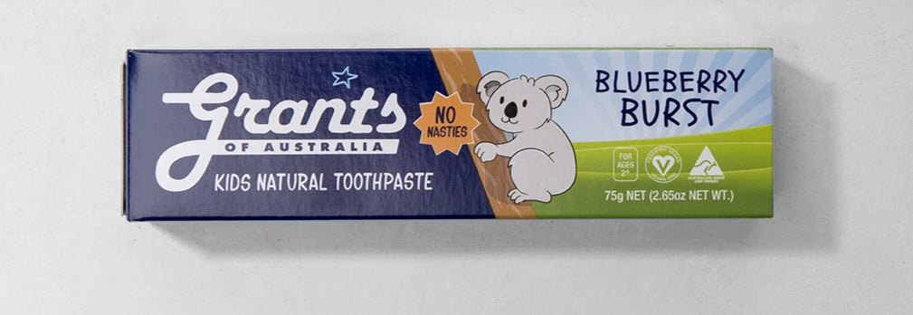 Toothpaste, Grants Kids Natural Blueberry Burst - 75g