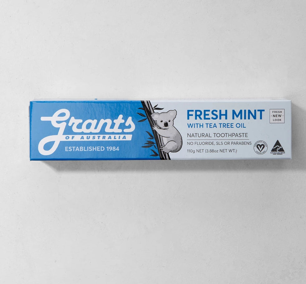Toothpaste, Grants Natural Fresh Mint (blue) - 110g