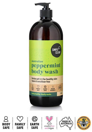 Body Wash, Australian Peppermint - 1L