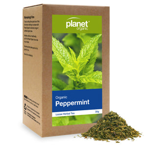 Planet Organic Organic Peppermint Herbal Loose Leaf Tea 35g