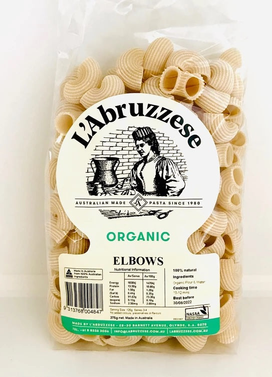 Pasta Wheat Elbows Organic 375g