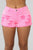 Don't Miss Me Too Much Distressed Shorts - Neon Pink