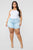 Say So II Denim Shorts - Light Blue Wash