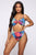 Tiki Dancer 2 Piece Sunsuit Set - Blue Multi