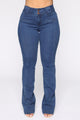 Down For The Count Boot Cut Jeans - Medium Blue Wash