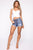 Judy High Waist Denim Exposed Button Shorts - Medium Blue