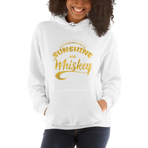 Sunshine-and-whiskey-Women's-Hooded Sweatshirt