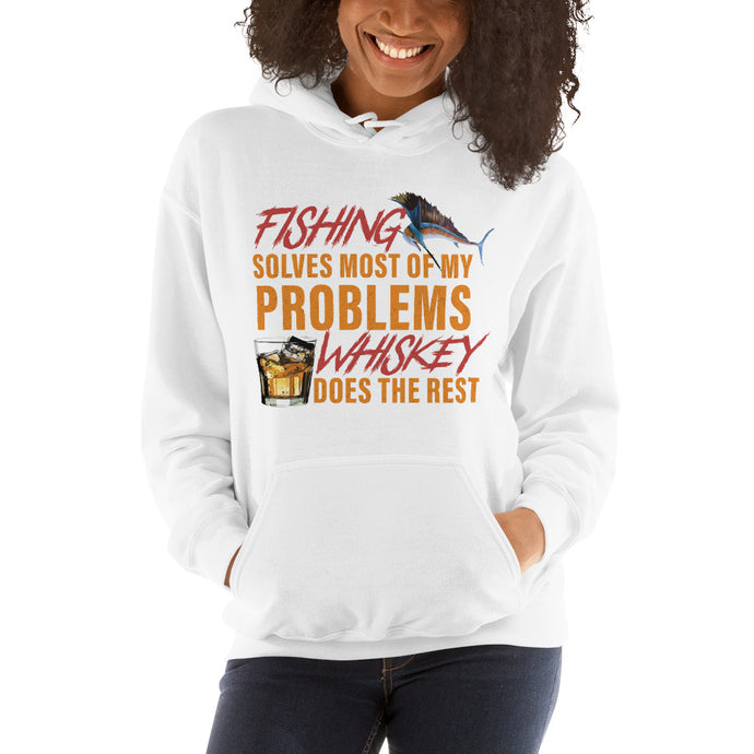 Fishing-Whiskey Women's Hooded Sweatshirt
