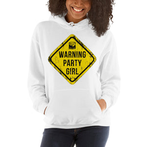 PARTY-Girl-Sign-Women's-Hooded Sweatshirt