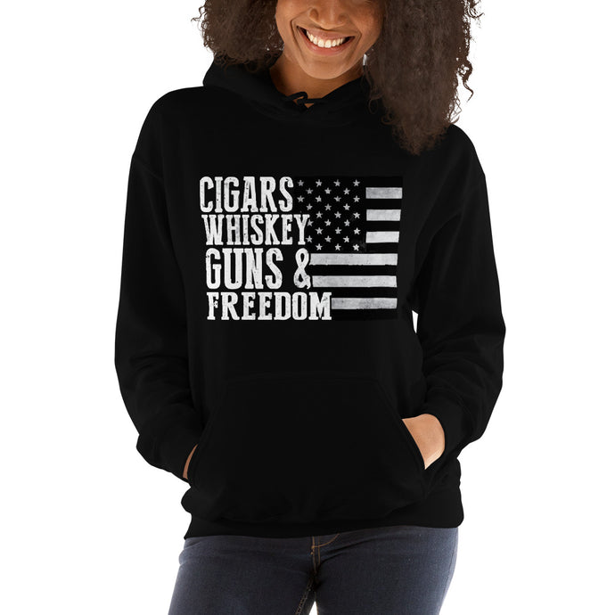 Guns and Freedom Women's Hooded Sweatshirt