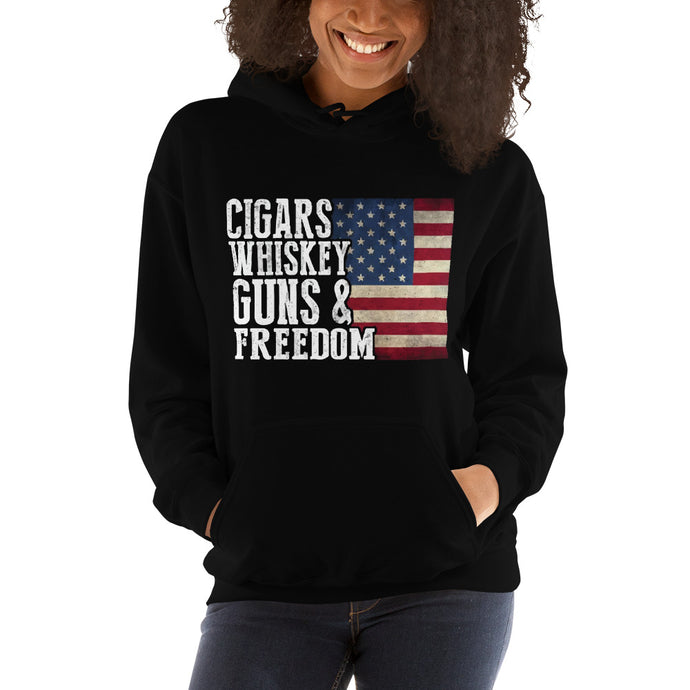 Guns and Freedom Women'sHooded Sweatshirt
