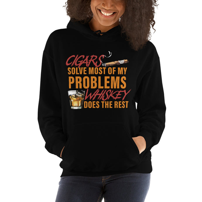 Cigars-Whiskey-Women's-Hooded Sweatshirt