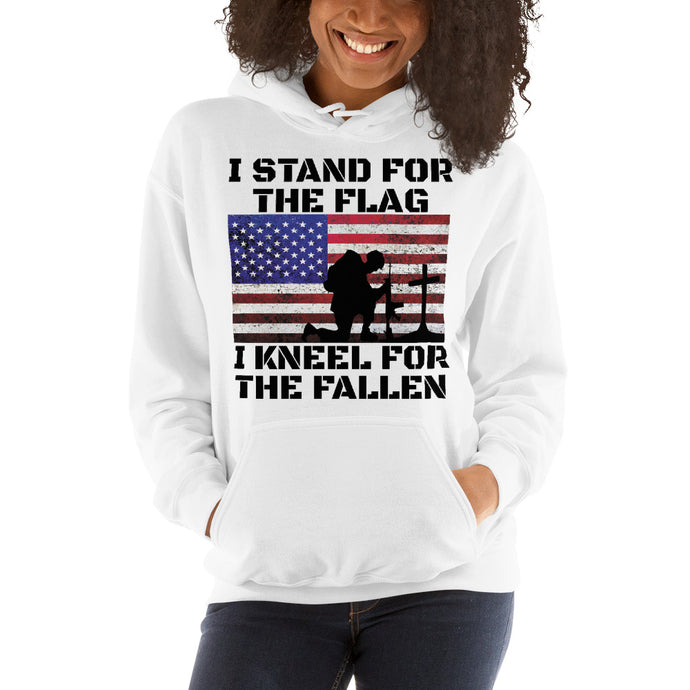 I-Stand-and-Kneel Women's Hooded Sweatshirt