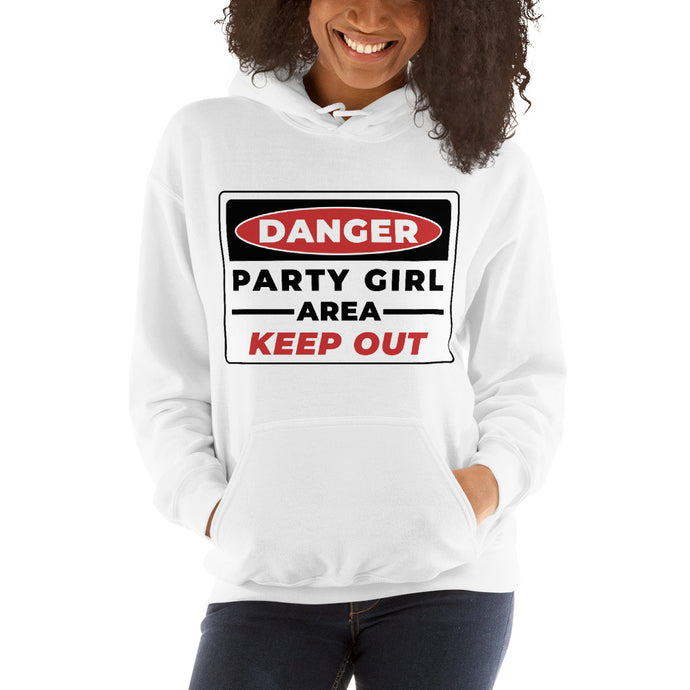 DANGER-PARTY-GIRL-Women's-Hooded Sweatshirt