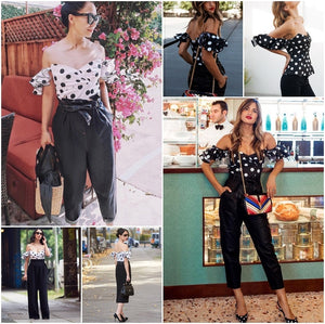 Shoulder Polka Dot Blouse