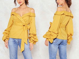 Off Shoulder Strap Blouse