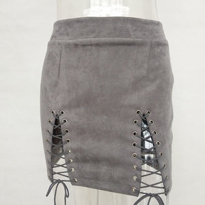 Sexy Leather Suede Skirts Women
