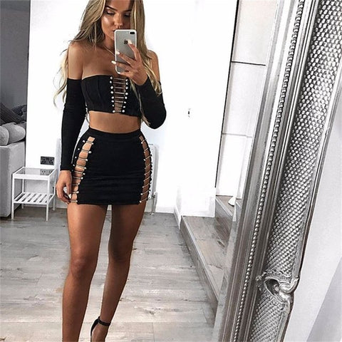 Sexy Off Shoulder Women Set