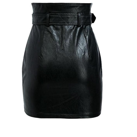 High Waist Leather Skirts