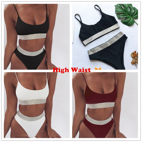 Image of Swimsuit High Waisted
