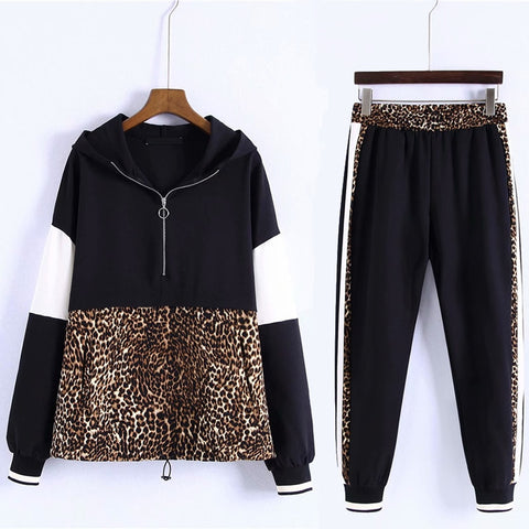2 Pieces Leopard Set