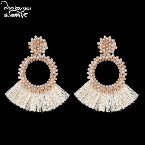 Boho Tassel Fringes Drop Earrings