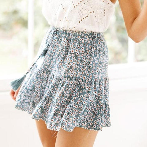 Casual Short Pleated Skirt