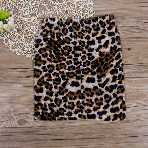 Fashion Women Leopard Printed Short Skirt