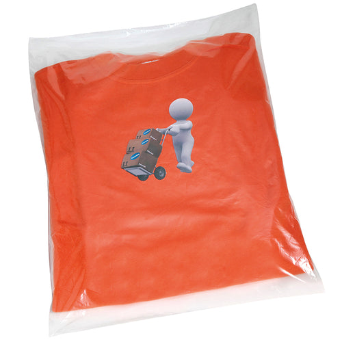 CLEAR POLYTHENE BAGS - NON STICK SEAL