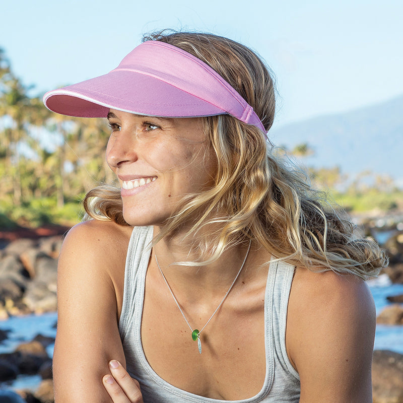 HERRINGBONE SUN VISOR WITH SANDWICH PEAK