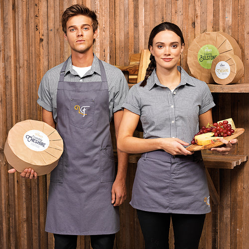 CHINO COTTON BIB APRON
