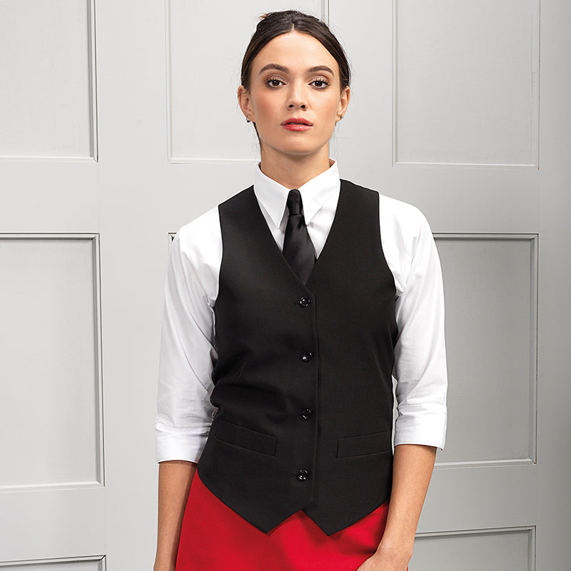 WOMENS LINED POLYESTER WAISTCOAT