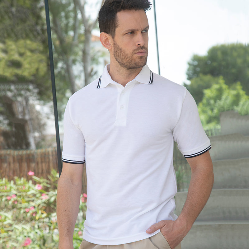 65/35 TIPPED PIQUE POLO SHIRT