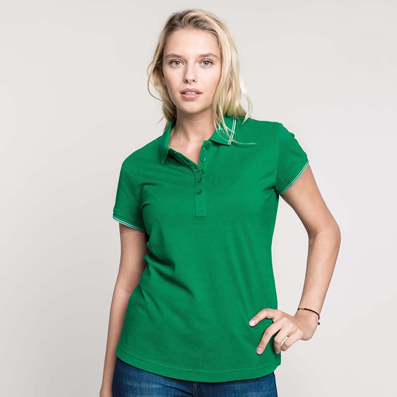 WOMENS SHORT SLEEVE POLO SHIRT