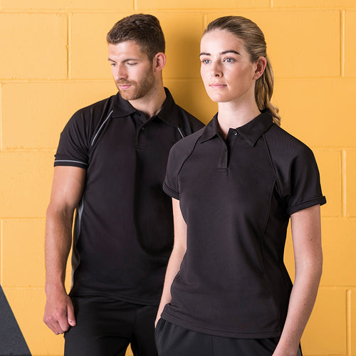 WOMENS PIPED PERFORMANCE POLO