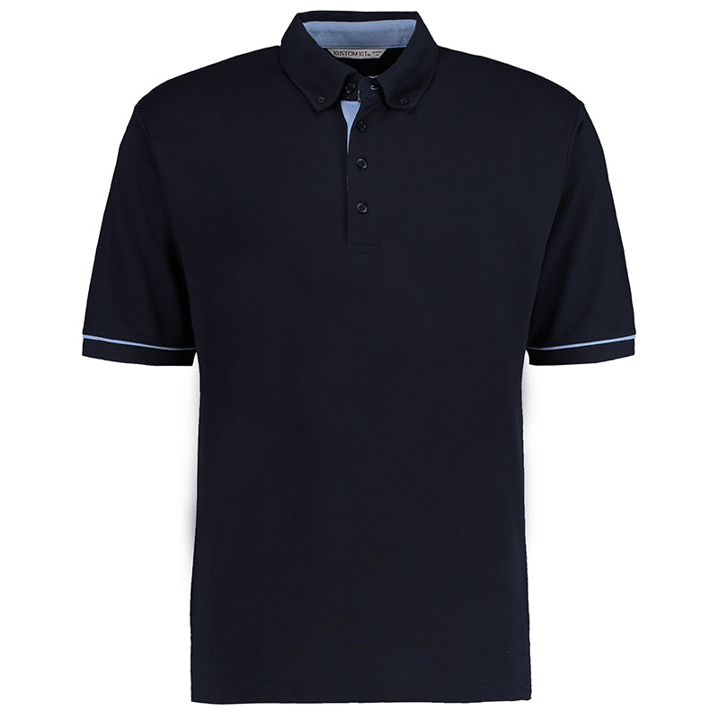 BUTTON-DOWN COLLAR CONTRAST POLO