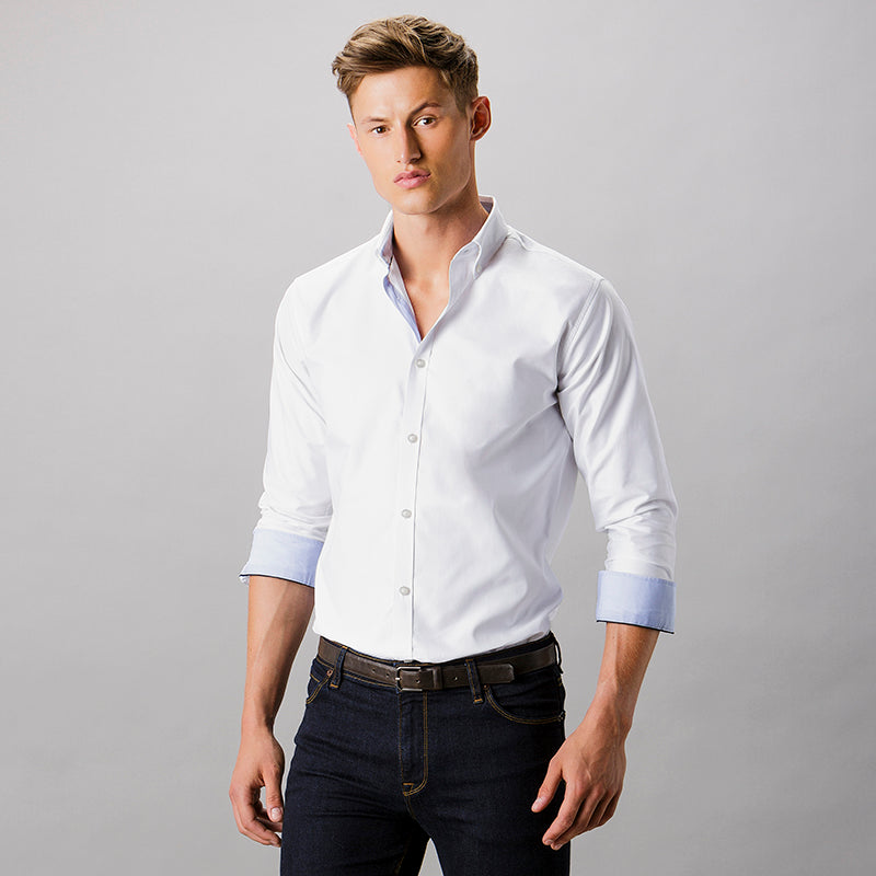 CLAYTON  AND  FORD CONTRAST OXFORD SHIRT LONG SLEEVE