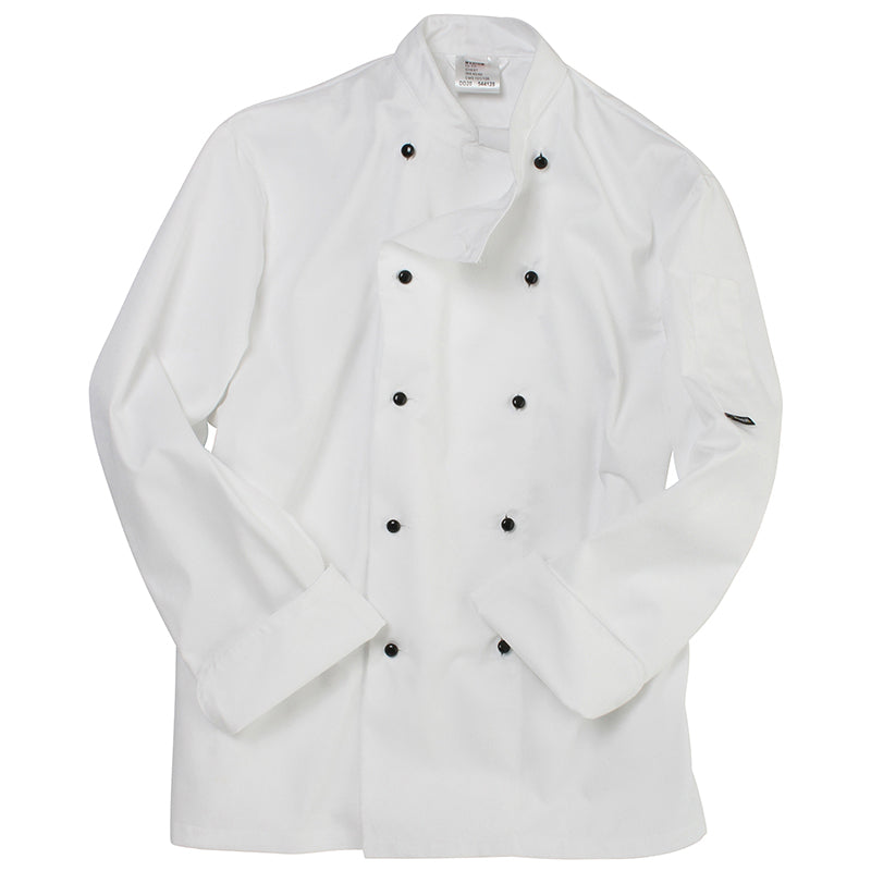LONG SLEEVE CHEFS JACKET WITH REMOVABLE STUDS DD20