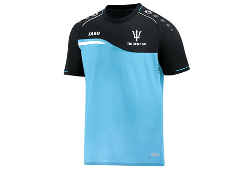 ADULT JAKO TRIDENT SWIM T-SHIRT COMPETITION 2.0 TS6118 FRONT BLUE