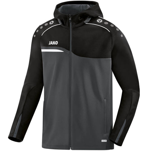 ADULT JAKO COMPETITION 2.0 HOODY 6818 ANTHRACITE BLACK