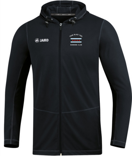 Mens JAKO Black Toes Running Club Black Hoody BTR6875B